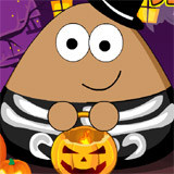 Pou Halloween Slacking